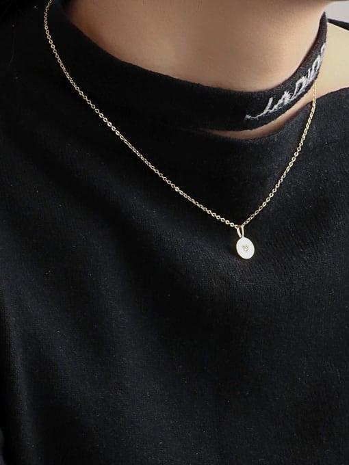 CHARME Brass Cubic Zirconia Geometric Minimalist Necklace 2