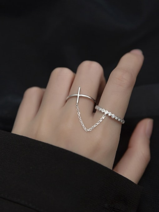 Rosh 925 Sterling Silver Round Minimalist Stackable Ring 1