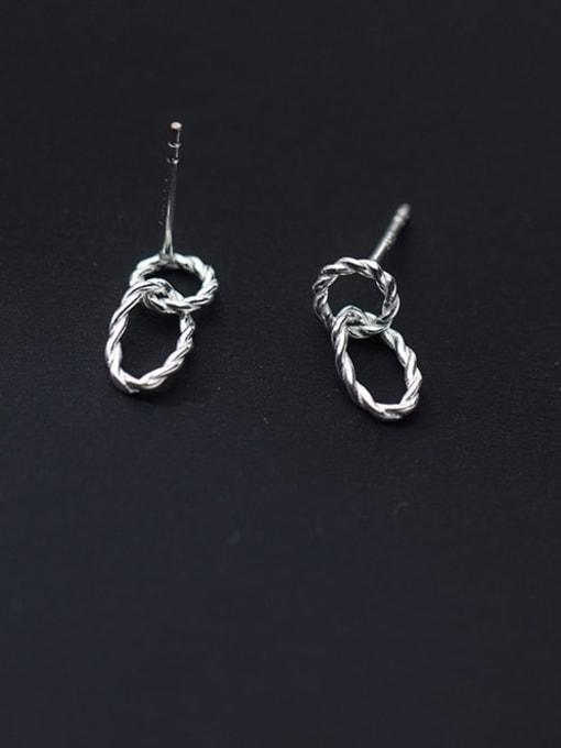 Rosh 925 Sterling Silver Geometric Minimalist Drop Earring 0