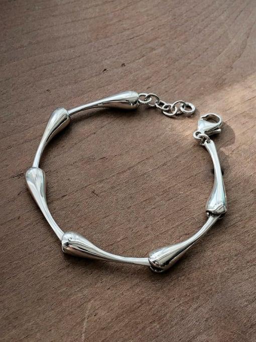Boomer Cat 925 Sterling Silver Irregular Vintage Bracelet