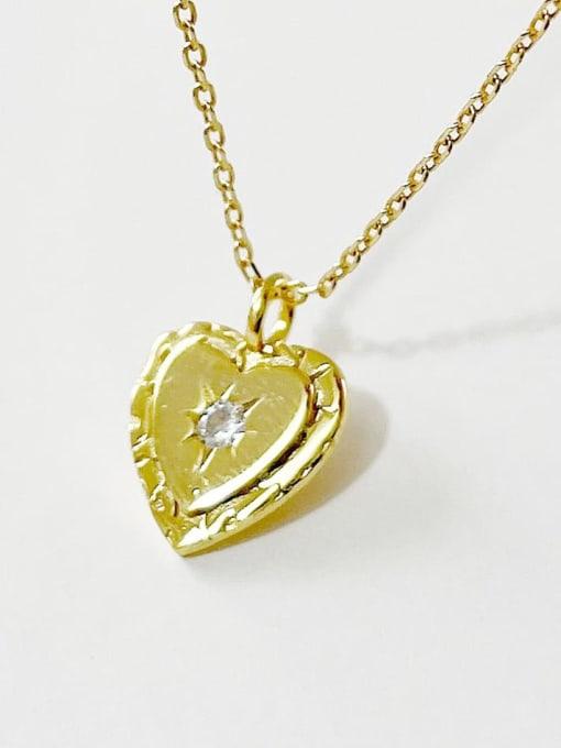 Boomer Cat 925 Sterling Silver Rhinestone Heart Minimalist Necklace 2