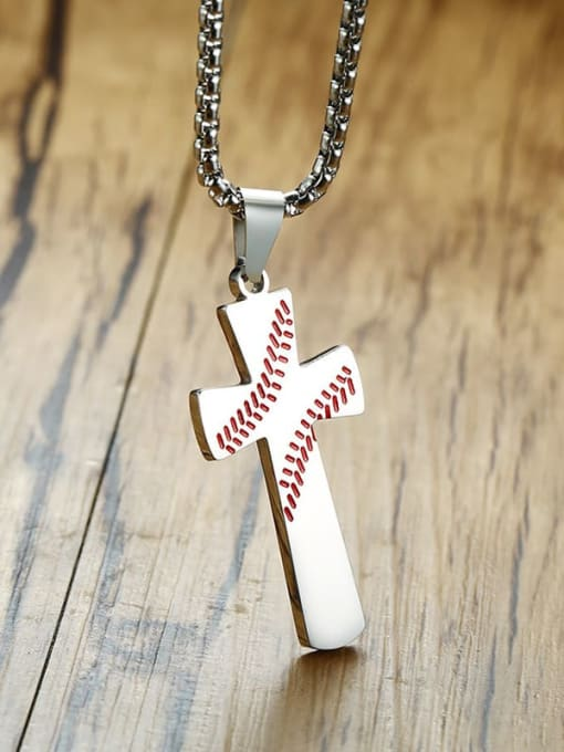 CONG Stainless steel Cross Minimalist Regligious Necklace 4