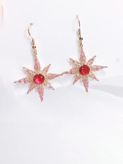 Luxu Brass Cubic Zirconia Star Minimalist Hook Earring 1