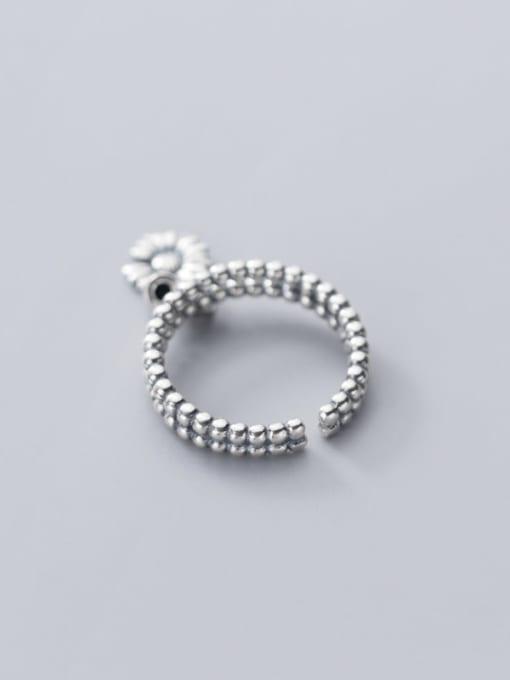 Rosh 925 Sterling Silver Bead Flower Vintage Band Ring 3