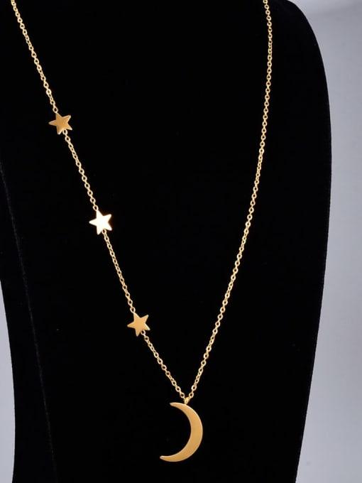 A TEEM Titanium Steel Star Vintage Multi Strand Necklace 2