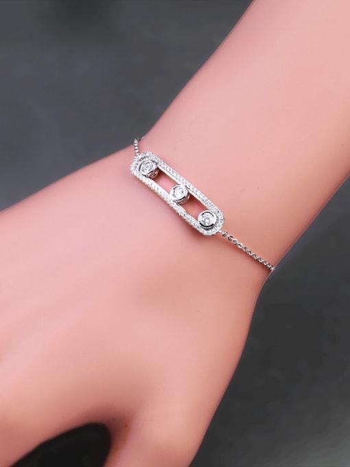 CC Alloy Cubic Zirconia Geometric Vintage Link Bracelet 1