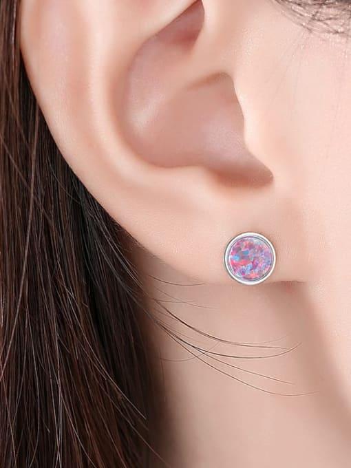 CCUI 925 Sterling Silver Geometric Minimalist Stud Earring 1