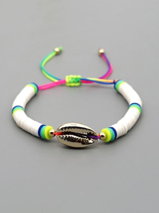 Roxi Stainless steel Multi Color Polymer Clay Geometric Bohemia Adjustable Bracelet