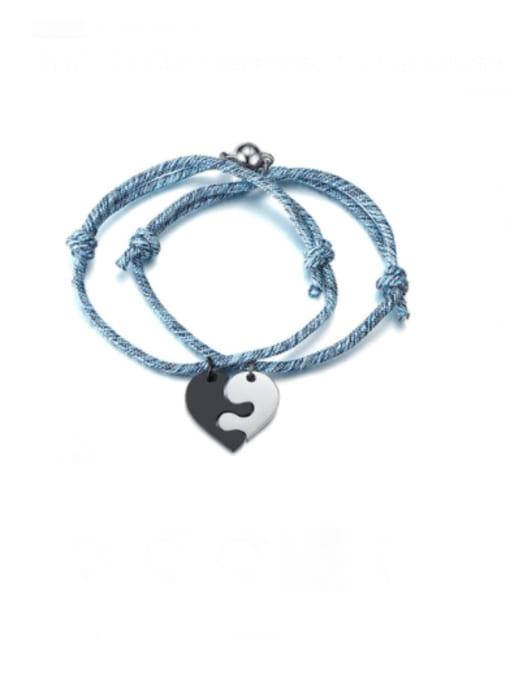 Section 104 Titanium Steel Heart Vintage Bracelet