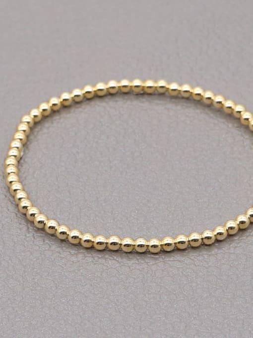 3mmQT B200110F Stainless steel Bead Round Minimalist Beaded Bracelet