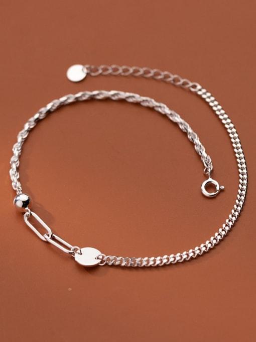 Rosh 925 Sterling Silver  Minimalist Geometric Anklet 0