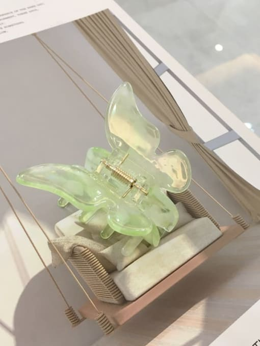 Apple green Alloy Cellulose Acetate Trend butterfly  Jaw Hair Claw