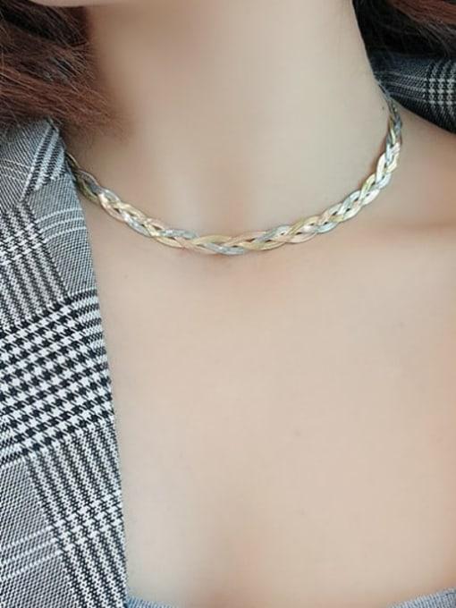 A TEEM Titanium Steel Irregular Vintage Necklace 3
