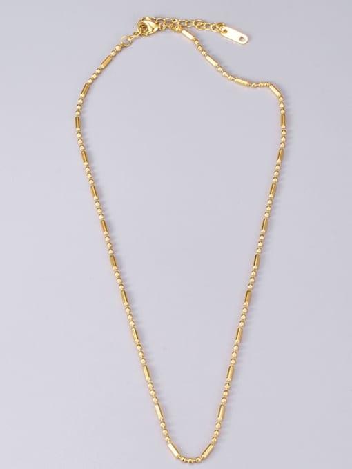 A TEEM Titanium Steel Smooth Round Vintage Necklace 4