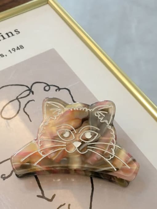 A043 color pattern Alloy Cellulose Acetate Acrylic Cat Hair Scratch Hairpin Medium Jaw Hair Claw