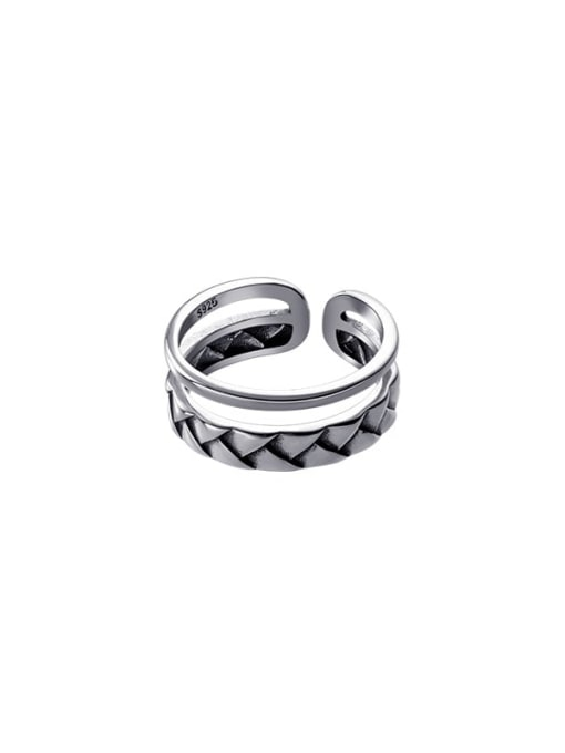 Rosh 925 Sterling Silver Geometric Vintage Stackable Ring 3