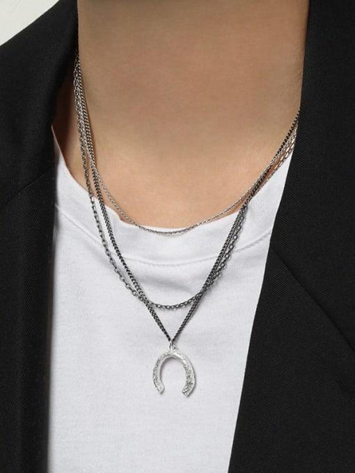 DAKA 925 Sterling Silver Round Minimalist Necklace 2