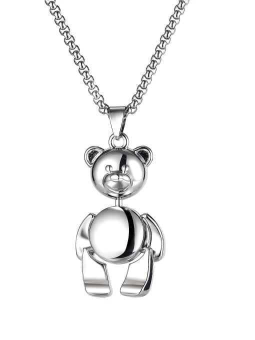 Open Sky Alloy  Hip Hop teddy bear Necklace 2