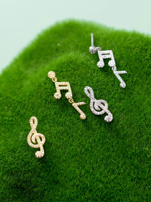 Rosh 925 Sterling Silver Cubic Zirconia Asymmetry Irregular Minimalist Stud Earring