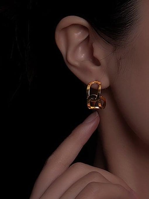 A TEEM Titanium Steel Geometric Minimalist Stud Earring 1