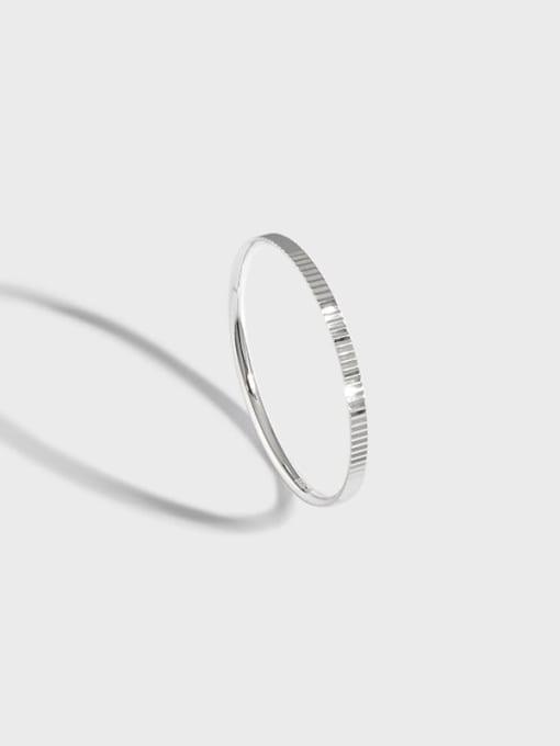 DAKA 925 Sterling Silver Geometric Minimalist Band Ring