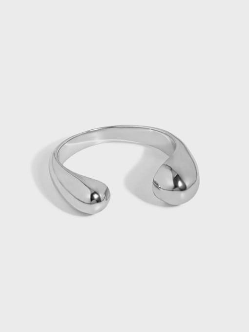 DAKA 925 Sterling Silver Water Drop Minimalist Band Ring 3