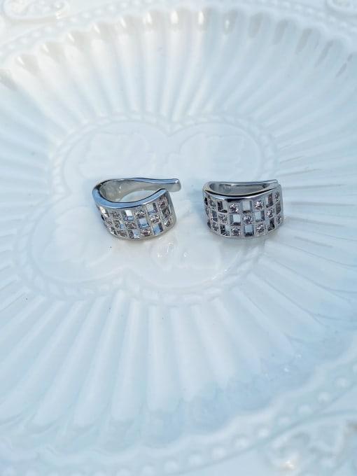 LI MUMU Brass Rhinestone Geometric Vintage Stud Earring 2