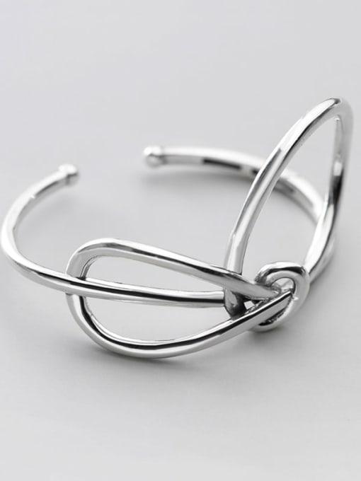 Rosh 925 Sterling Silver Hollow Geometric Minimalist bracelet 1