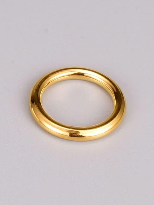 A TEEM Titanium Steel Smooth Round Minimalist Band Ring 3