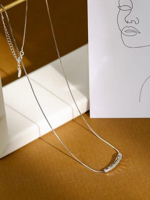 Dak Phoenix 925 Sterling Silver Irregular Minimalist Necklace 1