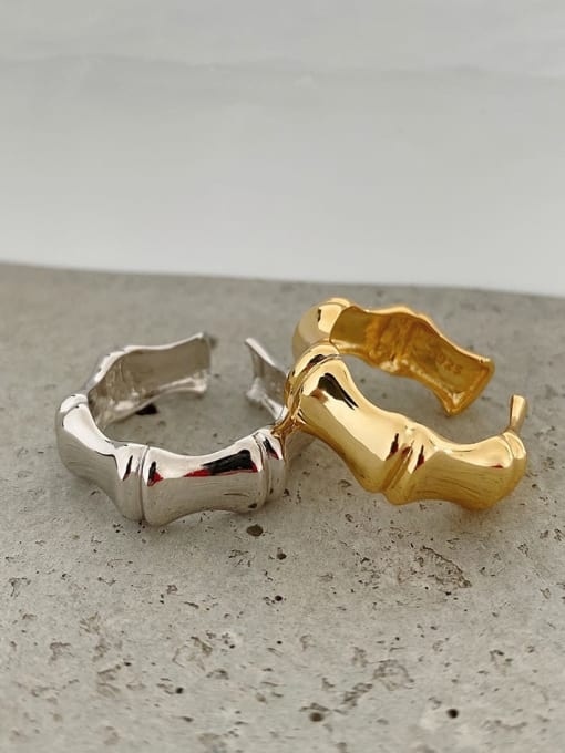 Boomer Cat 925 Sterling Silver Smooth Geometric Vintage Band Ring 2