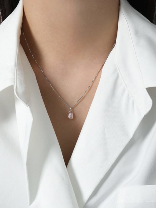 DAKA 925 Sterling Silver Irregular Minimalist Necklace 3