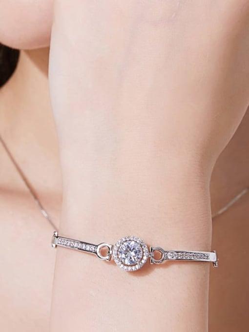 BLING SU Copper Cubic Zirconia Geometric Minimalist Bracelet 2