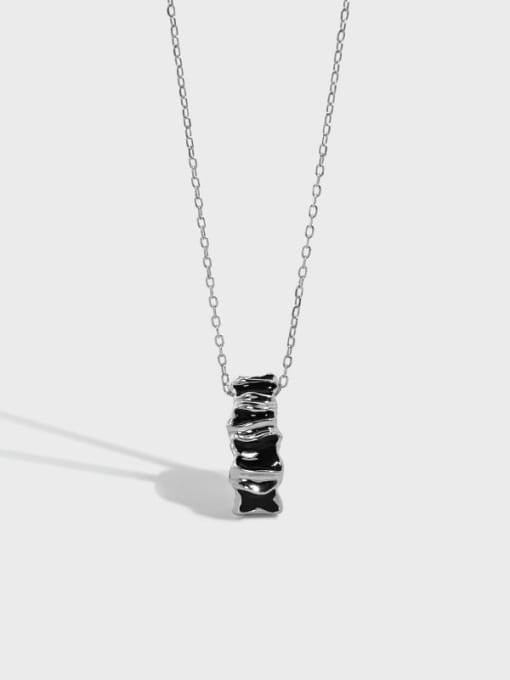 DAKA 925 Sterling Silver Cubic Zirconia Geometric Vintage Necklace