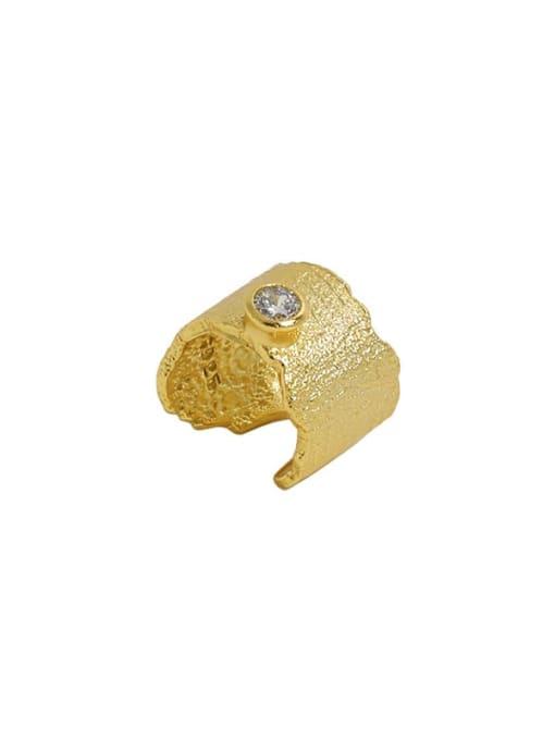 DAKA 925 Sterling Silver Rhinestone Irregular Minimalist Single Earring 4