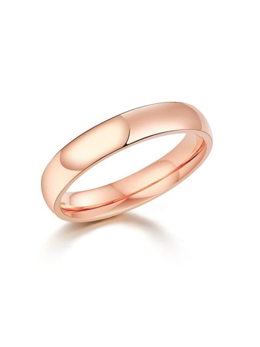 CONG Titanium Steel Round Minimalist Band Ring 0