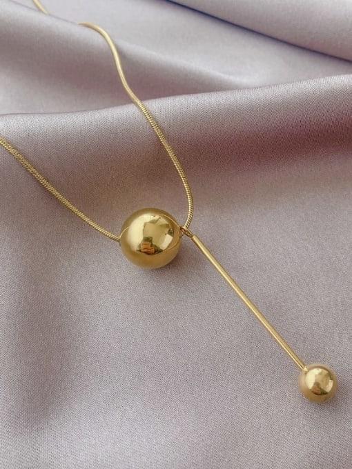 A TEEM Titanium Steel Tassel Minimalist Lariat Necklace 3