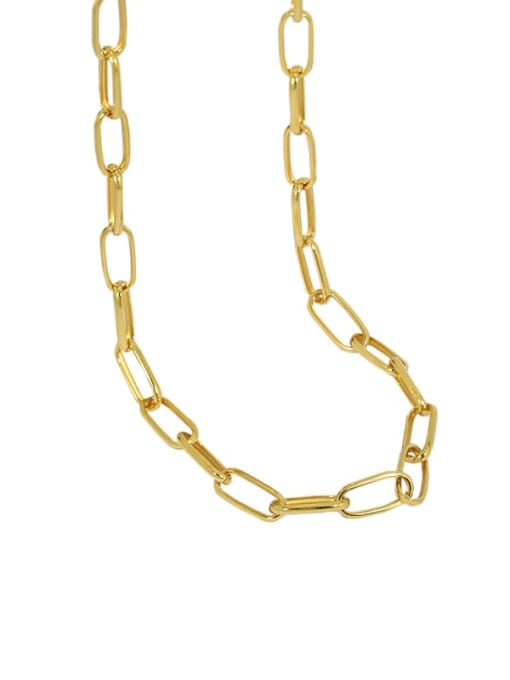 golden 925 Sterling Silver Hollow Geometric Chain Vintage Necklace