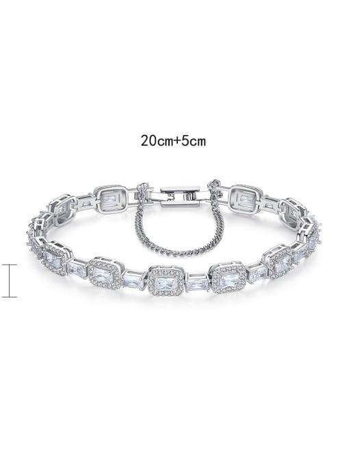 BLING SU Copper Cubic Zirconia Geometric Luxury Bracelet 3