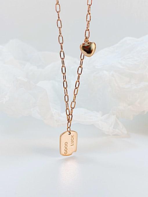 Open Sky Titanium Steel Geometric Vintage Necklace