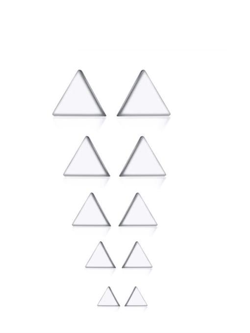 CONG Titanium Steel Triangle Minimalist Stud Earring 0