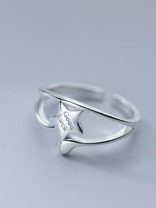 Rosh 925 Sterling Silver Star Minimalist Band Ring 1