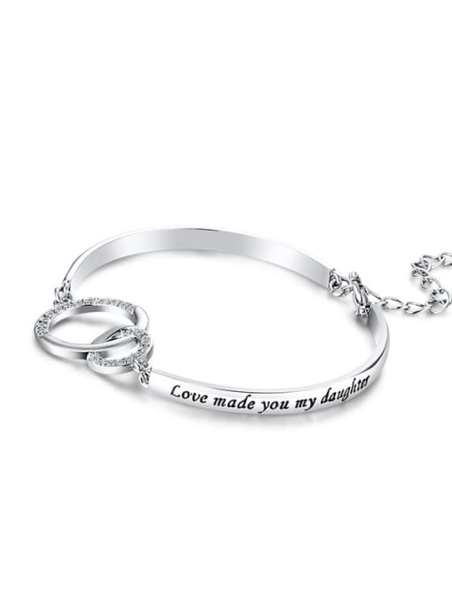 CONG Titanium Steel Hollow  Geometric Minimalist Bracelet 4