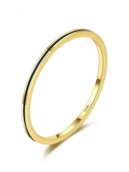 CCUI Brass Round Minimalist Band Ring