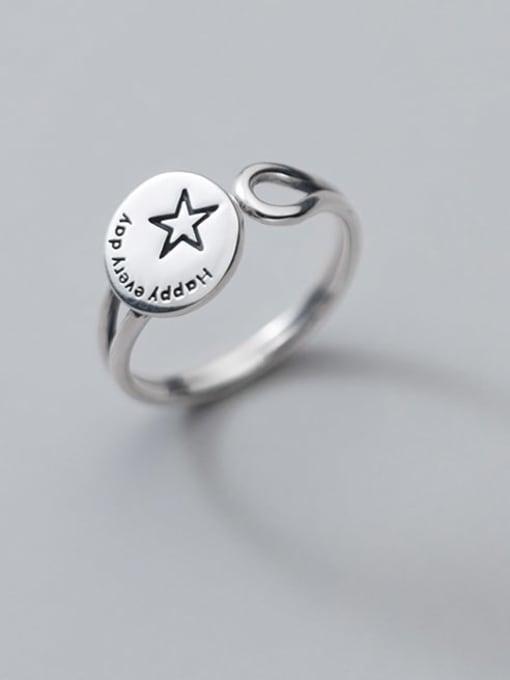 Rosh 925 Sterling Silver Geometric Vintage Band Ring 0