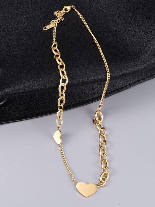A TEEM Titanium Steel Heart Minimalist Necklace 3