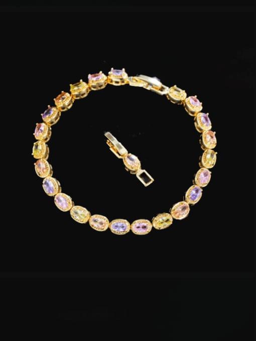 L.WIN Brass Cubic Zirconia Geometric Luxury Bracelet 1
