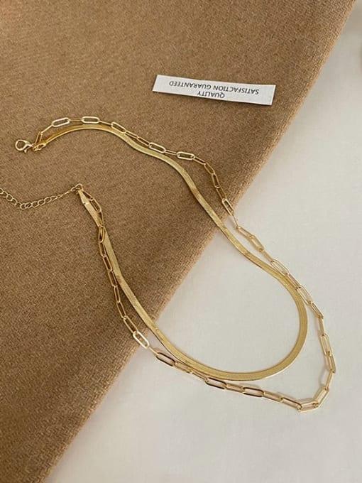 A TEEM Titanium Steel Irregular Minimalist Multi Strand Necklace