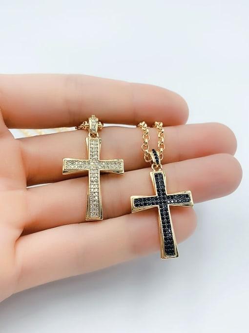 CC Copper Cubic Zirconia Cross Vintage Regligious  pendant 4