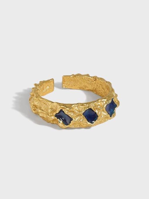 DAKA 925 Sterling Silver Cubic Zirconia Geometric Vintage Band Ring